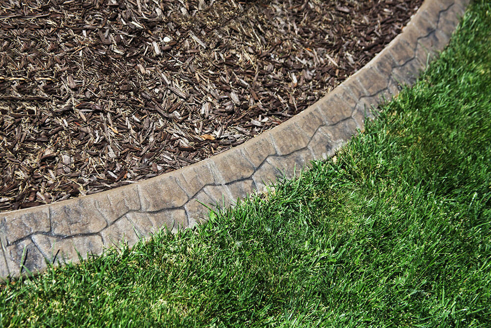 Concrete edging care and warranty